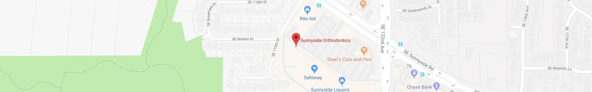 Footer Map Sunnyside Orthodontics Clackamas OR